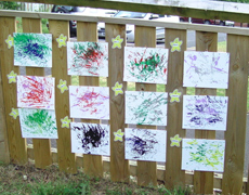 Artwork created and displayed outside