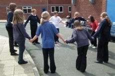 Transition day group enjoying 'wiggle'